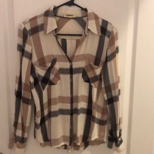 L'Agence small soft flannel shirt 100%Rayon